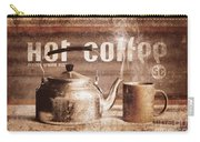 Fine Art Coffee Shop Tin Sign Insignia Carry-all Pouch
