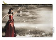Fine Art Photo Of A Beautiful Winter Fashion Woman Carry-all Pouch