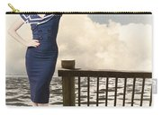 Fine Art Vintage Pin-up. Vacation Departure Dock Carry-all Pouch