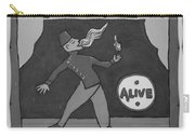 Fire Eater In Black And White Carry-all Pouch