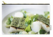 Fish Fillet With Herb Topping And Vegetables Carry-all Pouch