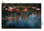 Flamingo Convention Carry-all Pouch by Melinda Hughes-Berland