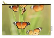 Flock Of Plain Tiger Danaus Chrysippus Carry-all Pouch by Alon Meir