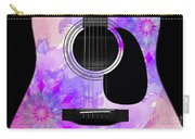 Floral Abstract Guitar 17 Carry-all Pouch