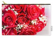 Floral Rose Boquet Held By Bride Carry-all Pouch