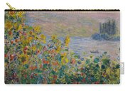 Flower Beds At Vetheuil Carry-all Pouch