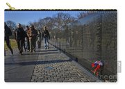 Flowers Left At The Vietnam War Memorial Carry-all Pouch
