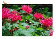 Flying Bee With Bee Balm Flowers Carry-all Pouch