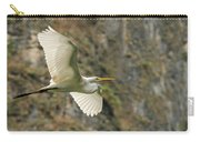 Flying Great Egret Carry-all Pouch