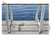 Footprints On Dock At Summer Lake Carry-all Pouch by Elena Elisseeva