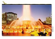 Fountain Lit Up At Dusk, Buckingham Carry-all Pouch