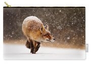 Fox First Snow Carry-all Pouch by Roeselien Raimond