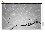 Frankfurt Street Map - Frankfurt Germany Road Map Art On Colored Carry-all Pouch