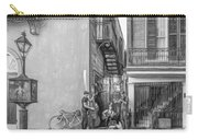 French Quarter Trio - Paint Bw Carry-all Pouch