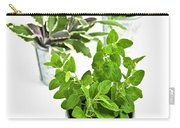 Fresh Herbs In Pots Carry-all Pouch