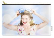 Friendly Female Pin-up Wearing Hair Accessories  Carry-all Pouch