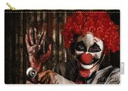 Frightening Clown Doctor Holding Amputated Hand  Carry-all Pouch