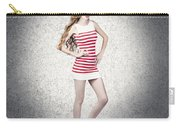 Full Length Retro Fashion Photo. Perfect Woman Carry-all Pouch