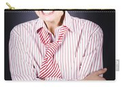 Funny Female Business Nerd With Big Geeky Smile Carry-all Pouch