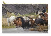 Gaucho With Herd Of Horses Carry-all Pouch