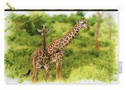 Mom Giraffe And Little Joey Carry-all Pouch