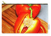 Glowing Peppers With Texture Carry-all Pouch