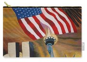 God Bless America Hand Embroidery Carry-all Pouch