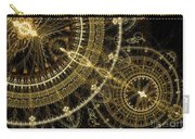 Golden Abstract Circle Fractal Carry-all Pouch