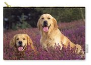 Golden Retriever Dogs In Heather Carry-all Pouch