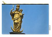 Golden Statue Of The Virgin Mary In Munich Germany Carry-all Pouch