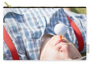 Golf Player Finding Inner Balance Carry-all Pouch