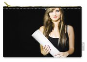 Graduate Engineer Holding Construction Design Plan Carry-all Pouch