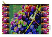 Grapes Fruit Pattern Health Background Designs  And Color Tones N Color Shades Available For Downloa Carry-all Pouch