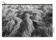 Grass In Black And White Carry-all Pouch