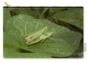 Grasshopper Mating On Grass Leaf Carry-all Pouch