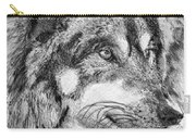 Gray Wolf Watches And Waits Carry-all Pouch