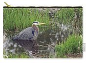 Great Blue Heron At Deboville Slough 2 Carry-all Pouch