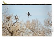 Great Blue Heron Nest Building 3 Carry-all Pouch