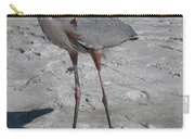 Great Blue Heron On The Beach Carry-all Pouch