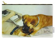 Great Dane And Australian Sheperd Carry-all Pouch