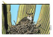 Great Horned Owl Bubo Virginianus Carry-all Pouch