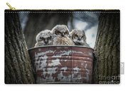Great Horned Owl Chicks Carry-all Pouch