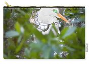 Great White Egret Heron Breeding Season Painted  Carry-all Pouch