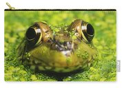 Green Frog Hiding In Duckweed Carry-all Pouch