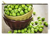 Green Peas Carry-all Pouch by Elena Elisseeva