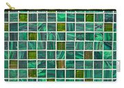 Green Tiles Carry-all Pouch