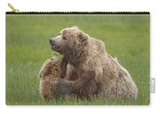 Grizzly Bear Playing With Cub Lake Carry-all Pouch