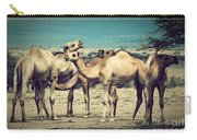 Group Of Camels In Africa Carry-all Pouch