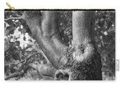 Growth On The Survivor Tree In Black And White Carry-all Pouch