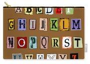 Grunge Alphabet Carry-all Pouch